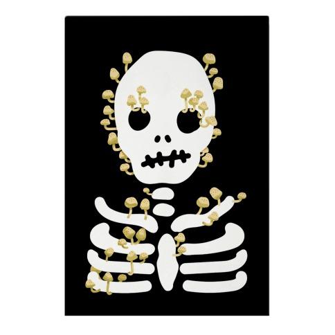 Mushroom Skeleton Garden Flag