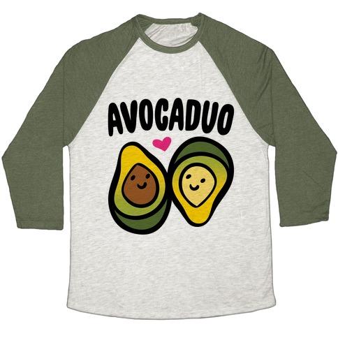 Avocaduo Pairs Shirt Baseball Tee