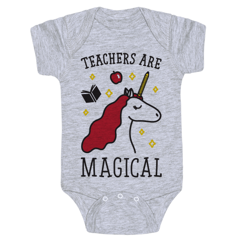 Teachers Are Magical Baby Onesy