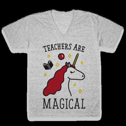 Teachers Are Magical V-Neck Tee Shirt