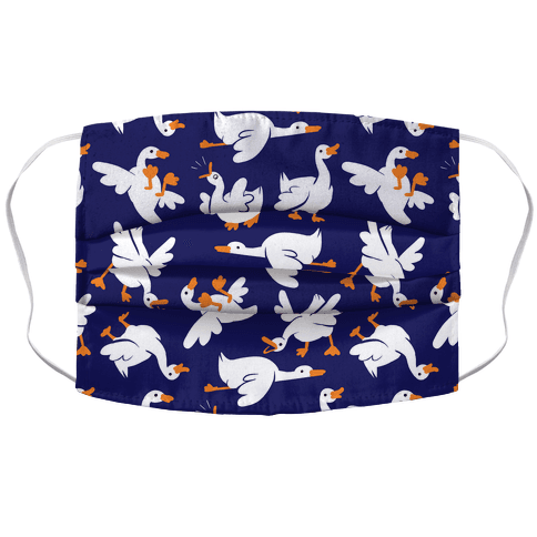 Goose Pattern Face Mask Cover