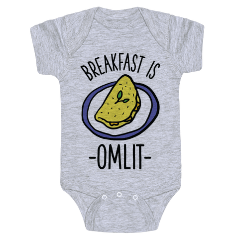 Breakfast is Omlit Baby Onesy