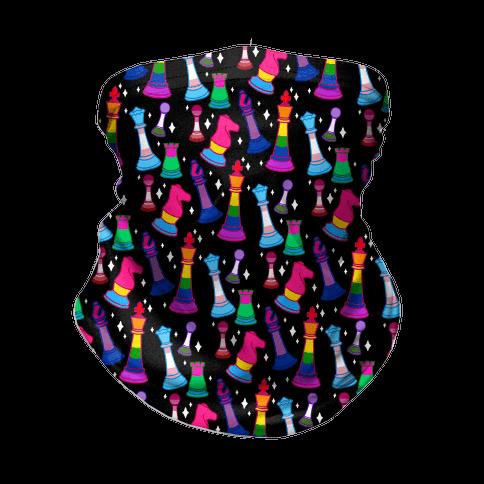 Pride Chess Pieces Pattern Neck Gaiter