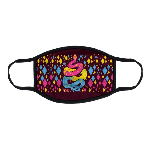 Pride Snakes: Pansexual Flat Face Mask