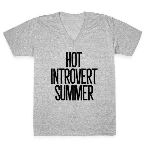 Hot Introvert Summer V-Neck Tee Shirt