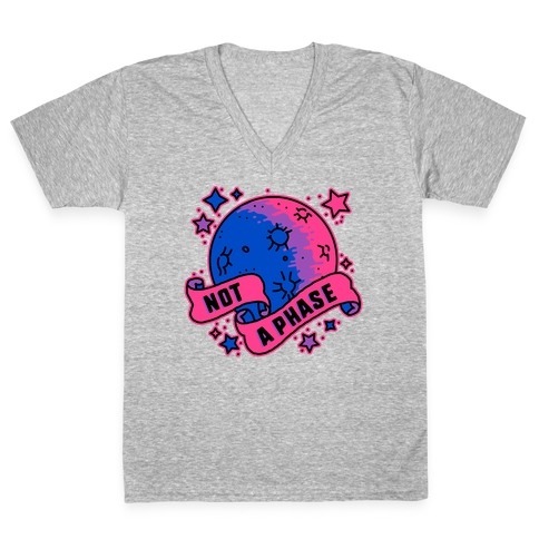 Not a Phase Bi Moon V-Neck Tee Shirt