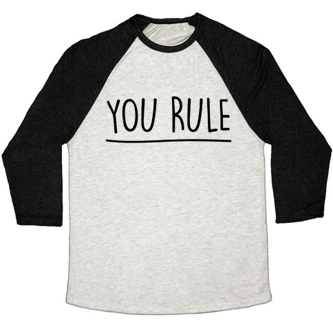 You Rule You Suck Parody Pairs Shirt Baseball Tee