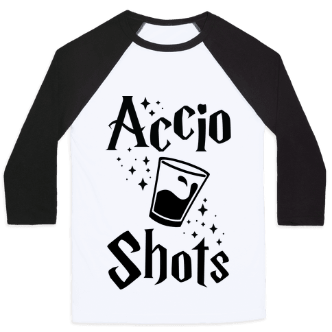 Accio Shots Baseball Tee