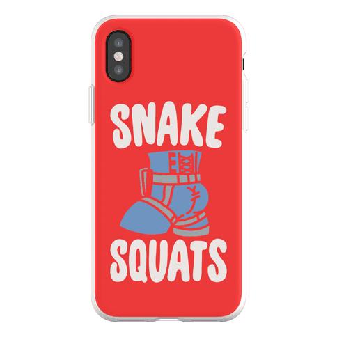 Snake Squats Parody Phone Flexi-Case