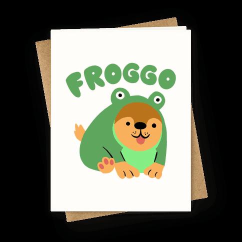 Froggo Doggo Frog Greeting Card