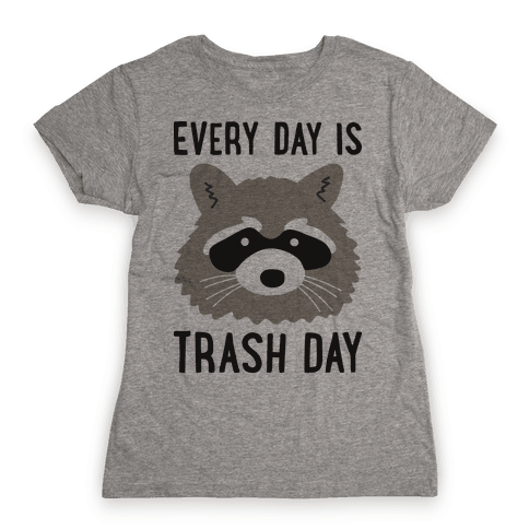 Every Day Is Trash Day Raccoon Womens T-Shirt