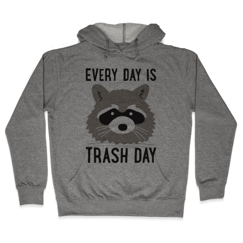 Every Day Is Trash Day Raccoon Hooded Sweatshirt