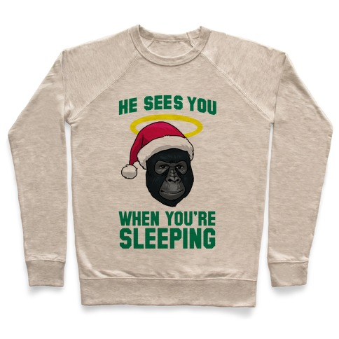 He Sees You When You're Sleeping Pullover