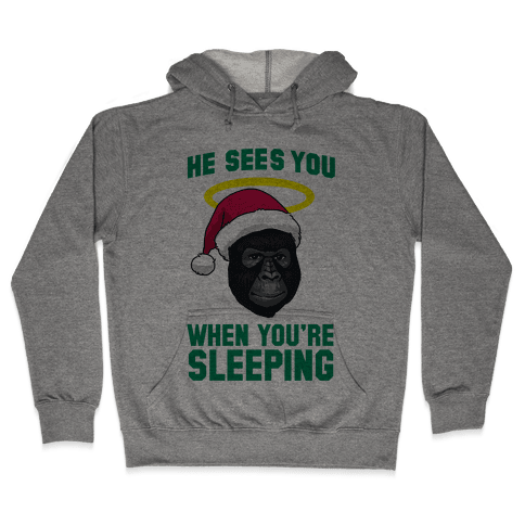 He Sees You When You're Sleeping Hooded Sweatshirt