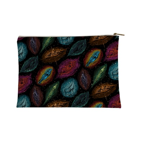 Cosmic Vulva Pattern Accessory Bag