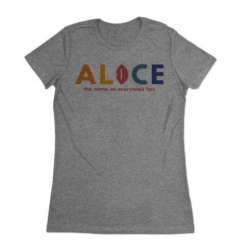 Alice, The Name On Everyone's Lips Womens T-Shirt