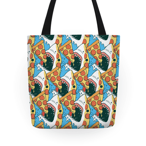 Pizza Shark Tote