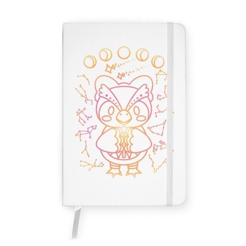 Celestial Astrology Owl Notebook