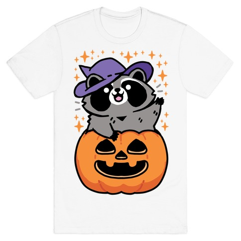 Cute Halloween Raccoon T-Shirt