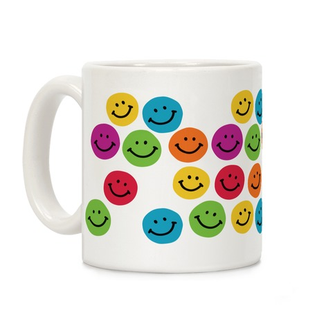 Smiley Sticker Pattern Coffee Mug