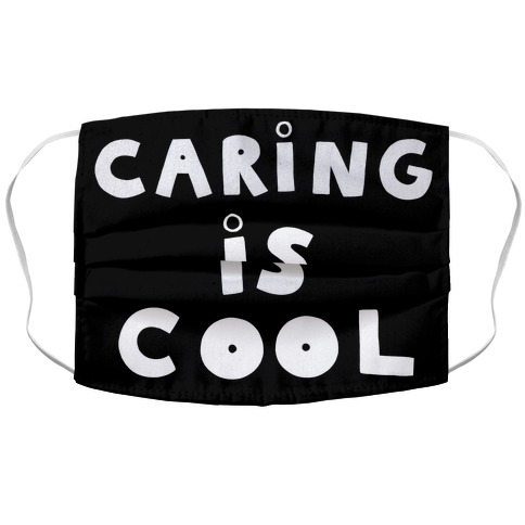 Caring Is Cool Accordion Face Mask