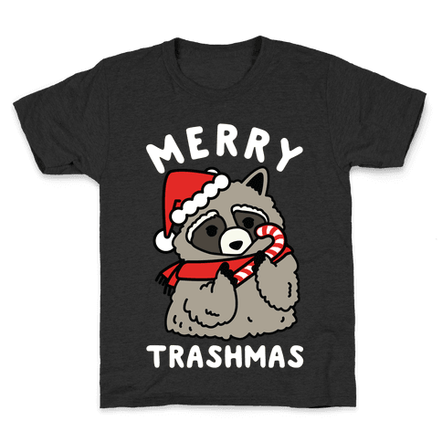 Merry Trashmas Raccoon Kids T-Shirt