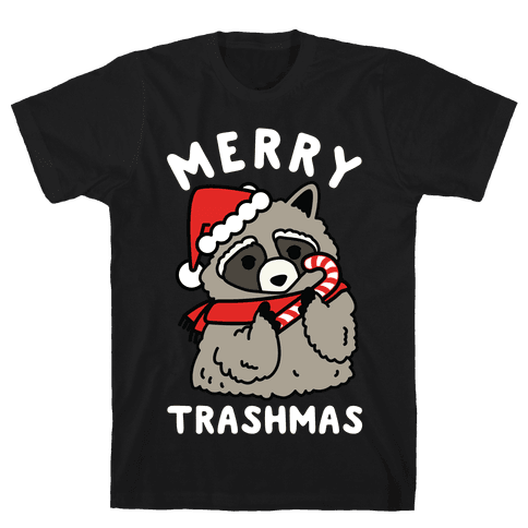 Merry Trashmas Raccoon Mens T-Shirt