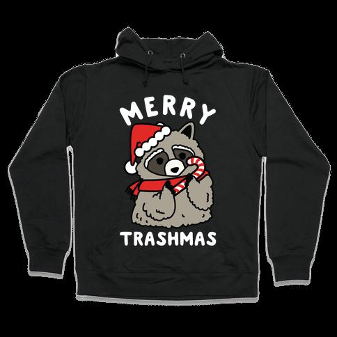Merry Trashmas Raccoon Hooded Sweatshirt