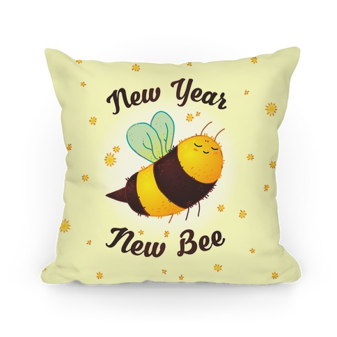 New Year New Bee Pillow