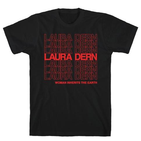Laura Dern Thank You Bag Parody White Print T-Shirt