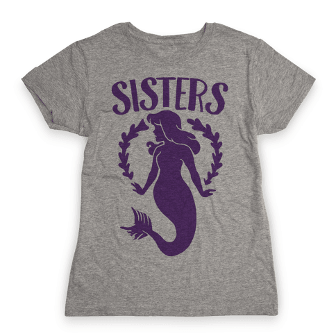 Mermaid Sisters (Purple) Womens T-Shirt
