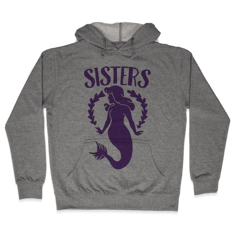 Mermaid Sisters (Purple) Hooded Sweatshirt