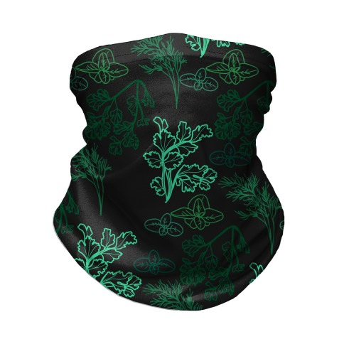 Green Herbs Pattern Neck Gaiter