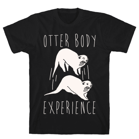 Otter Body Experience White Print Mens T-Shirt
