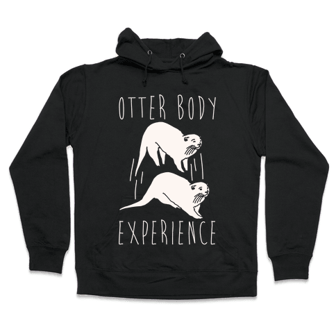 Otter Body Experience White Print Hooded Sweatshirt