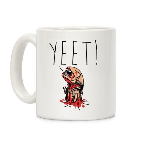 Yeet Alien Parody White Print Coffee Mug