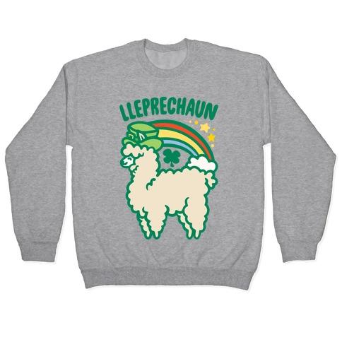 Lleprechaun Parody White Print Pullover