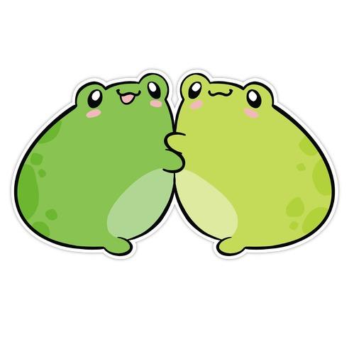 Froggy Besties Die Cut Sticker