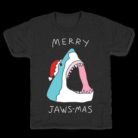 Merry Jaws-mas Christmas Kids T-Shirt