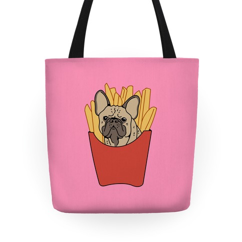 French Fry French Bulldog Tote