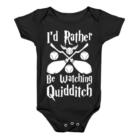 I'd Rather Be Watching Quidditch  Baby Onesy