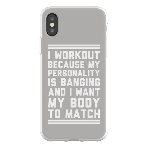 new products 273bc 7f4ed My Personality is Banging Phone Flexi-Cases | LookHUMAN