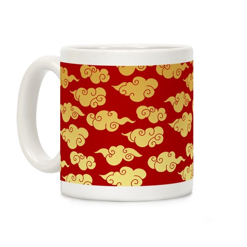Oriental Clouds Pattern Coffee Mug