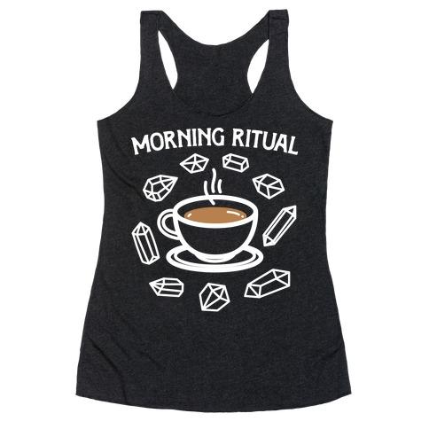 Morning Ritual Coffee and Crystals Racerback Tank Top