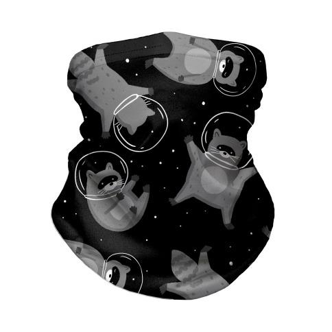 Raccoons In Space Neck Gaiter