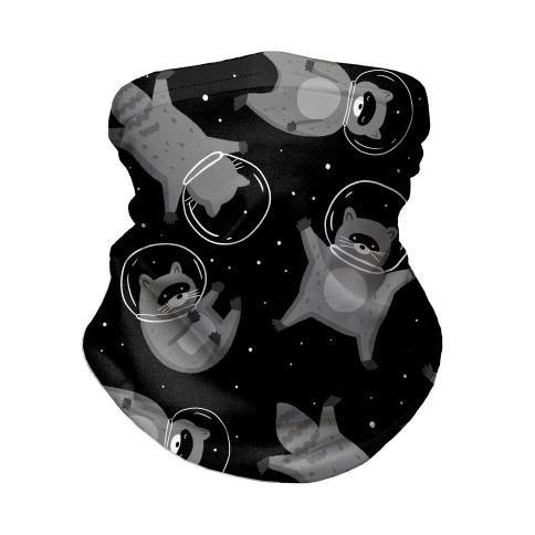 Raccoons In Space Neck Gaiter
