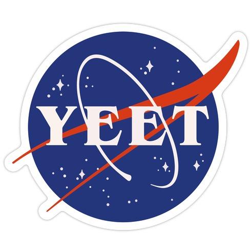 Yeet Nasa Logo Parody Die Cut Sticker