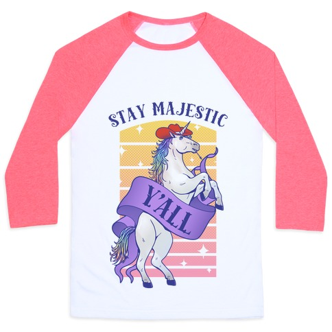 Stay Majestic Y'all Baseball Tee
