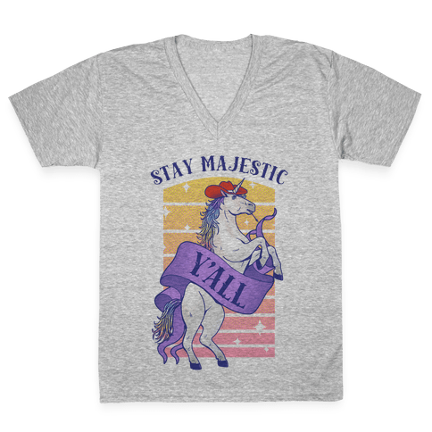 Stay Majestic Y'all V-Neck Tee Shirt