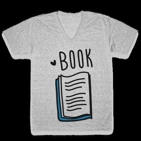 Book Buds 1 V-Neck Tee Shirt